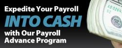 Payroll advance program
