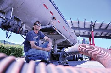 truck unloading fuel